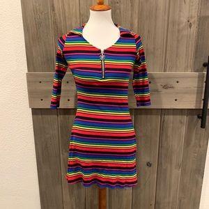 Delia's Dollskill Rainbow Zip Mini Dress